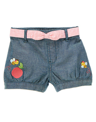 Chambray Bee Belted Chambray Short by Gymboree