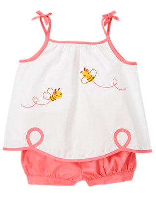 Toddler Girls White Bee Scalloped Two-Piece Set by Gymboree