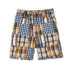 Checked Plaid Patchwork Short