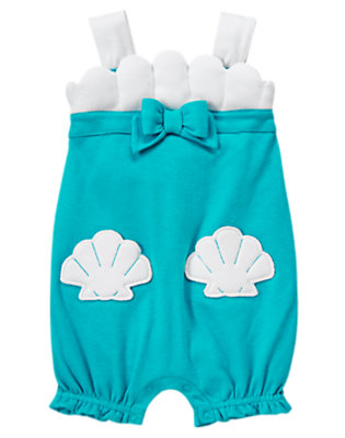 Toddler Girls Aqua Blue Bow Mermaid Bubble by Gymboree