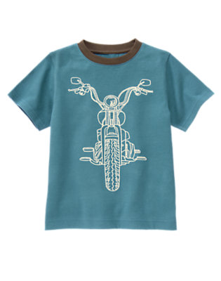 Dusty Blue Motorcycle Ringer Tee by Gymboree