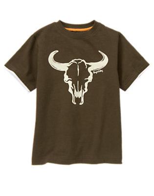 Desert Brown Steer Head Tee by Gymboree