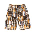 Motorcycle Plaid Patchwork Short