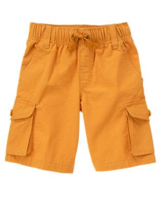 Boys Highway Orange Ripstop Cargo Short by Gymboree