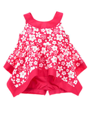 Toddler Girls Hibiscus Pink Floral Hibiscus Two-Piece Set by Gymboree