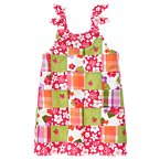 Embroidered Flower Patchwork Dress