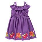 Orchid Flower Ruffle Dress