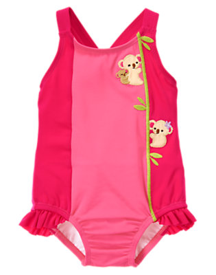 Toddler Girls Tropical Pink Koala One-Piece Swimsuit by Gymboree