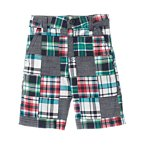Chambray Plaid Patchwork Short