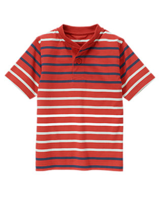 Summer Red Stripe Stripe Henley Tee by Gymboree