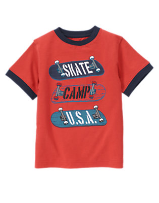 Summer Red Skate Camp U.S.A. Tee by Gymboree