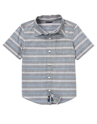Light Blue Stripe Shirt by Gymboree