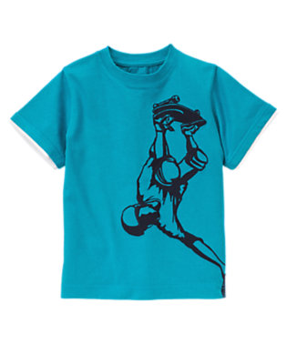 Teal Blue Skateboarder Tee by Gymboree