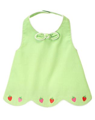 Toddler Girls Melon Green Strawberry Diamond Pique Halter Top by Gymboree