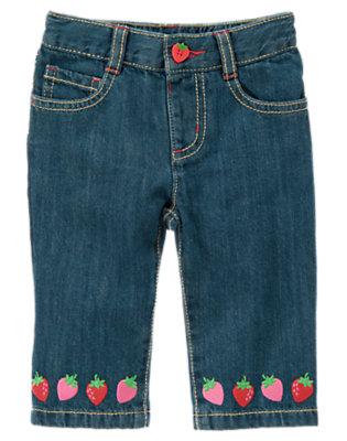 Denim Strawberry Jean by Gymboree