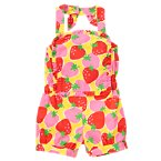 Strawberry Bib Halter Romper