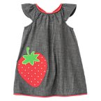 Strawberry Chambray Dress
