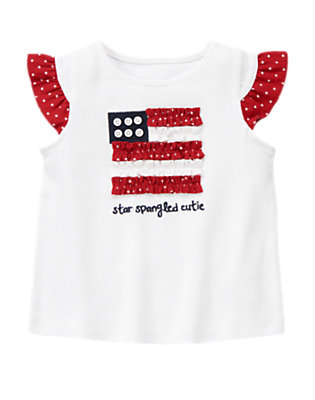 White Star-Spangled Cutie Tee by Gymboree