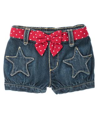 Denim Star Belted Jean Short by Gymboree