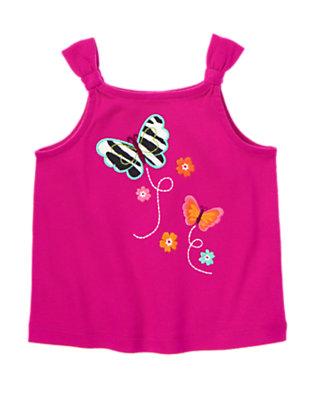 Dahlia Pink Zebra Butterfly Tank by Gymboree