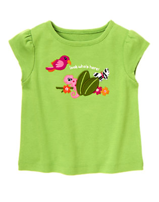 Parrot Green Parrot Jungle Tee by Gymboree