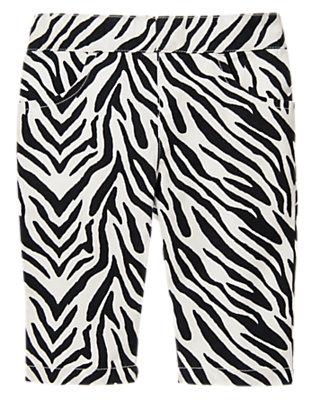 Ivory Zebra Zebra Capri Pant by Gymboree