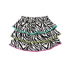 Zebra Tiered Pom Pom Skirt