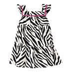 Zebra Pom Pom Dress