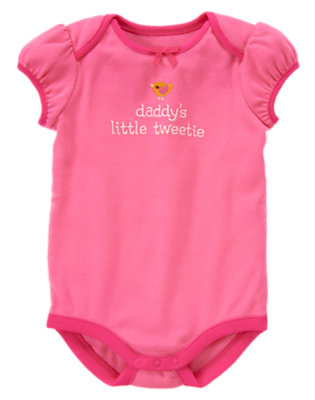 Baby Pink Daddy's Little Tweetie Bodysuit by Gymboree