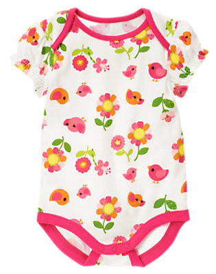 Baby Bird Floral Bird Flower Bodysuit by Gymboree