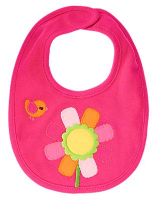 Baby Dark Pink Flower Bib by Gymboree