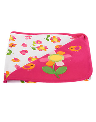 Baby Dark Pink Flower Blanket by Gymboree