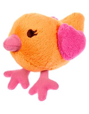 Baby Orange Birdie Plush Rattle by Gymboree