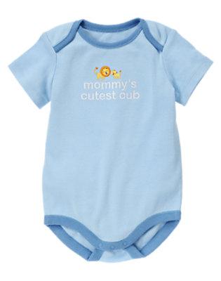 Baby Light Blue Mommy's Cutest Cub Bodysuit by Gymboree