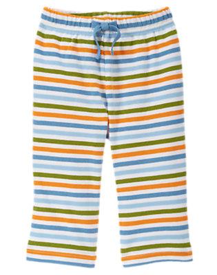 Baby Blue Stripe Lion Stripe Pant by Gymboree