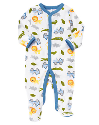 Baby Lion Lion Animal Footed One-Piece by Gymboree