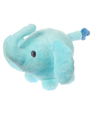 Baby Aqua Elephant Plush Rattle by Gymboree