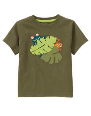 Iguana Green Hiding Tree Frogs Tee by Gymboree