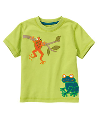 Palm Green Tree Frogs Tee by Gymboree