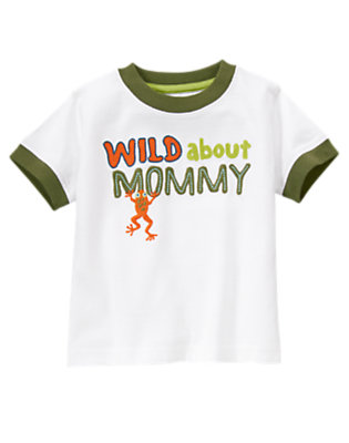 White Wild About Mommy Tree Frog Tee by Gymboree