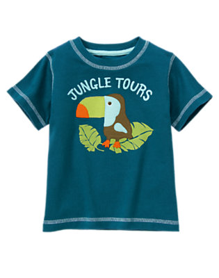 Helicopter Blue Toucan Tours Tee by Gymboree