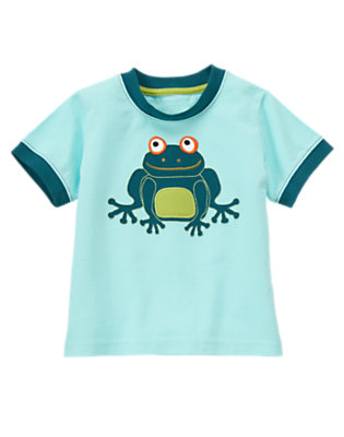 Wave Blue Tree Frog Tee by Gymboree