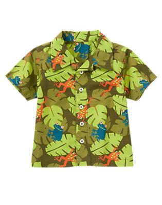 Frog Green Leaf Tree Frog Leaf Shirt by Gymboree