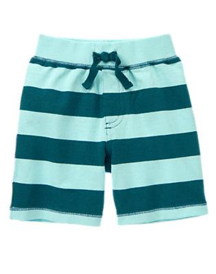 Wave Blue Stripe Knit Short by Gymboree