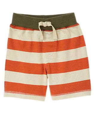 Ochre Orange Stripe Knit Short by Gymboree