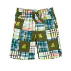 Tree Frog Plaid Patchwork Short