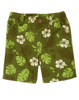 Green Leaf Jungle Leaf Short by Gymboree