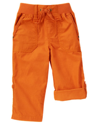 Ochre Orange Roll Cuff Pant by Gymboree