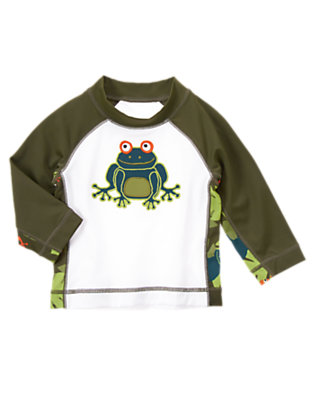 White Tree Frog Rash Guard by Gymboree