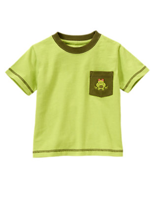 Palm Green Tree Frog Pocket Tee by Gymboree